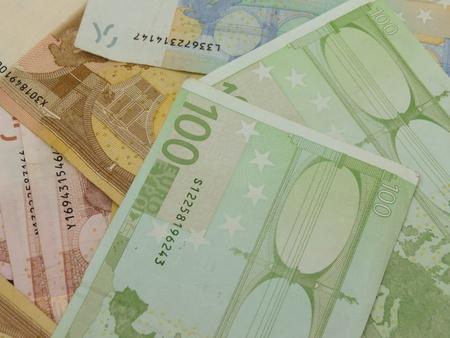 Euro  EUR  banknotes - legal tender of the European Union photo