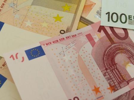 Euro (EUR) banknotes - legal tender of the European Union photo