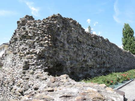 aosta: Roman walls in Aosta  Augusta Praetoria