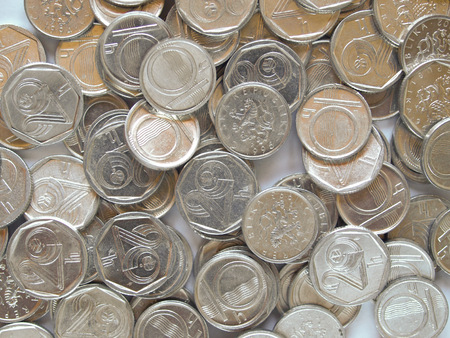 Czech currency (CZK) coins photo