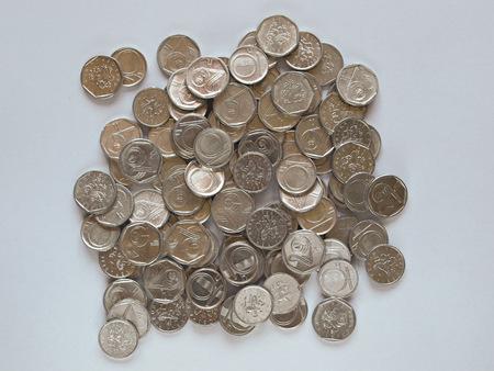 czech republic coin: Czech currency  CZK  coins Stock Photo