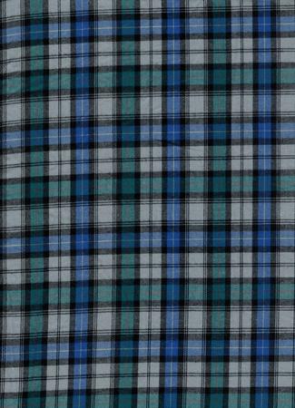 Blue and green tartan cotton fabric Stock Photo - 22799610