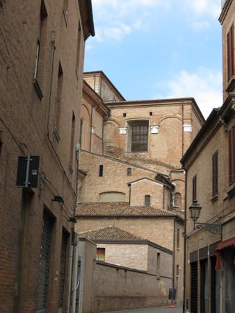 ferrara: Ferrara medieval narrow street