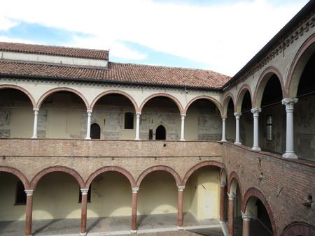ferrara: Ferrara medieval yard Stock Photo