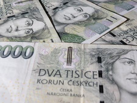 legal tender: Czech korunas CZK (legal tender of the Czech Republic) banknotes