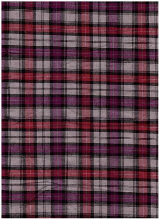 bedcover: Red tartan cotton fabric Stock Photo