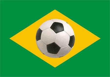brasil: Brasil flag icon - isolated vector illustration