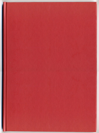 thesis: red leatherette book or thesis binding useful as a background
