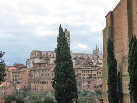 crossway: Siena, Italian medieval town - view of the city centre