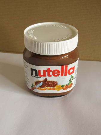 nutella: ROME, ITALY - CIRCA FEBRUARY 2015: Nutella jar Ferrero Nutella has been one of the best known Italian products worldwide for a few decades Editorial