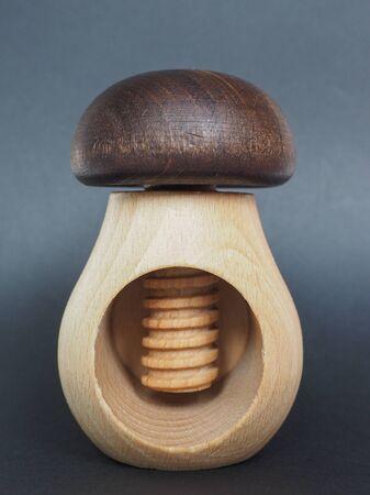shaped: a traditional wooden mushroom shaped nutcracker