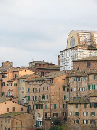 crossway: Siena, Italian medieval town - the cathedral