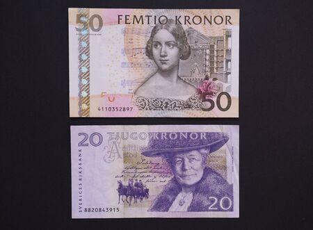 valued: STOCKHOLM, SWEDEN -- CIRCA DECEMBER 2014: Swedish currency SEK from Sweden Stock Photo