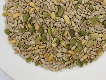 Seed mixture of Pumpkin, sunflower and sesame seeds photo