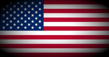 vignetted: Flag of the USA (United States of America) - isolated illustration vignetted