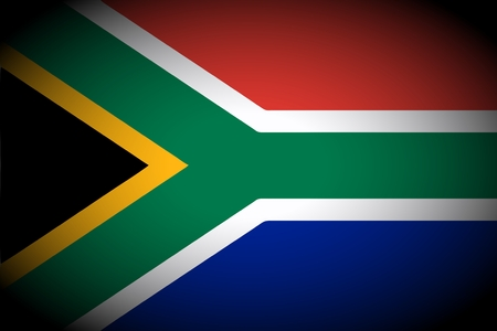 south african flag: South Africa flag icon - isolated illustration vignetted Stock Photo