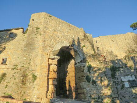 volterra: Volterra, Italian medieval town - Etruscan gate