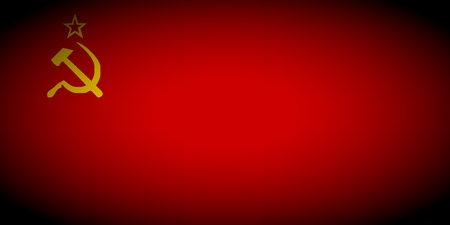 vignetted: USSR flag - isolated illustration vignetted
