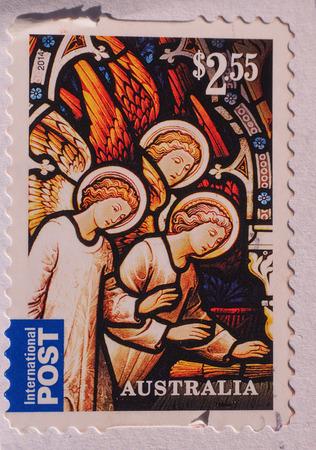 australia stamp: MELBOURNE, AUSTRALIA - CIRCA DECEMBER 2014: 2.55 AUD Australian postage stamp from Australia