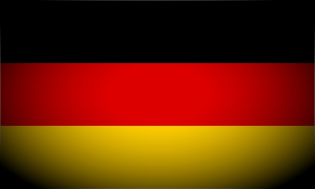 vignetted: German flag and language icon - isolated illustration vignetted