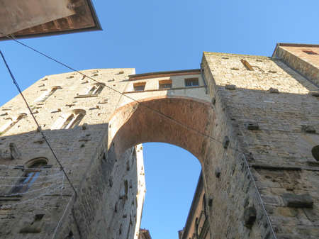 volterra: Volterra, Italian medieval town - view of the city centre Stock Photo