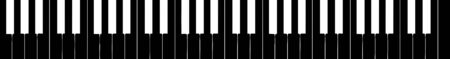 silouette: harpsichord keyboard silhouette, five octave extension from F to F - isolated vector illustration