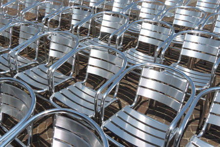 steel: steel chair audience useful as entertainment concept