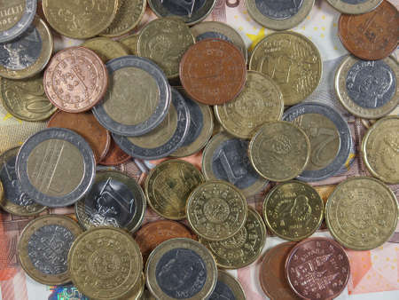 eec: Euro coins and banknotes currency of the European Union