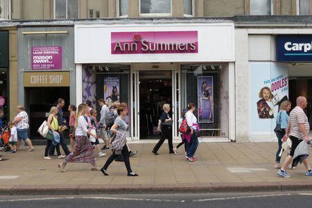COSTUMERS: EDINBURGH, SCOTLAND, UK - CIRCA AUGUST 2015: Ann Summers brand store