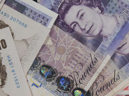 gbp: LONDON, UK - CIRCA JULY 2015: Sterling pound GBP banknotes, currency of the United Kingdom