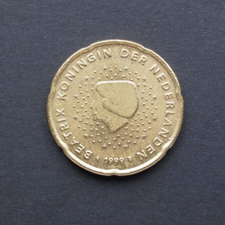 beatrix: Currency of the European Union 20 cents coin  from the Netherlands bearing the portait of Queen Beatrix