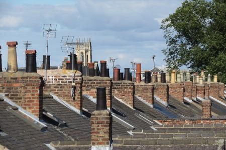British traditional red brick architecture