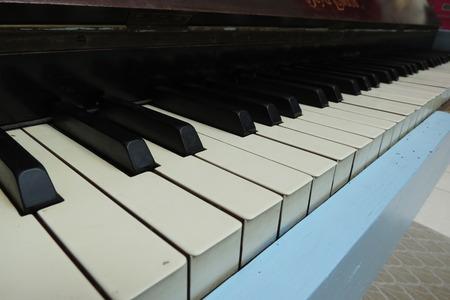 pianoforte: Piano aka Pianoforte keyboard close up Stock Photo