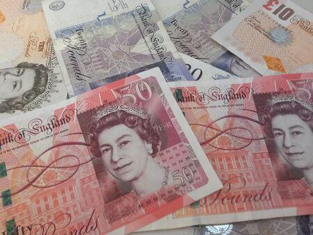 sterling: LONDON, UK - CIRCA Luglio 2015: note britannica Sterlina