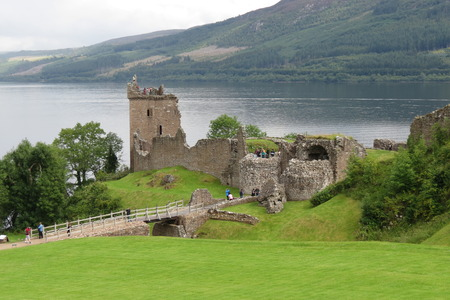 ness: Urquhart Castle, on the Loch Ness lake, Scotland