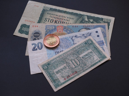 czechoslovak: Czechoslovakian money, withdrawn when Czechoslovakia split in 1993