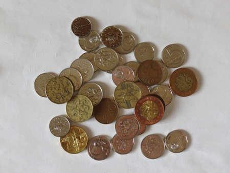 legal tender: Czech korunas CZK legal tender of the Czech Republic coins Stock Photo