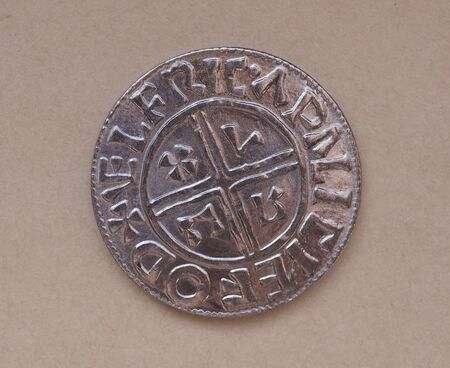 findings: Viking coin - modern replica based on archaeological findings Stock Photo