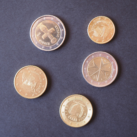 legal tender: Euro coins EUR from Malta and Cyprus - Legal tender of the EU