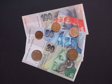 valued: Slovak currency SKK, withdrawn when Slovakia entered in the EUR area in 2008