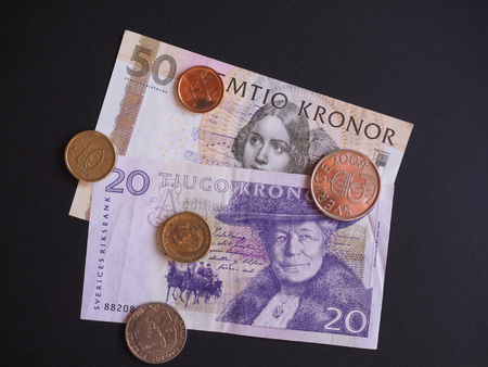 swedish: Swedish currency SEK from Sweden