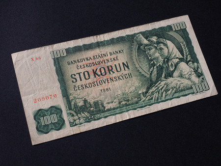 withdrawn: Czechoslovakian money, withdrawn when Czechoslovakia split in 1993