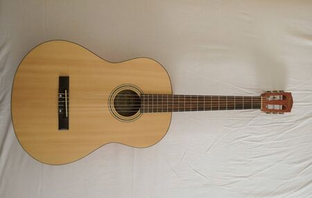 nylon string: SCOTTSDALE, ARIZONA - NOVEMBER 14, 2015: Fender classical guitar ESC105 Educational series Editorial