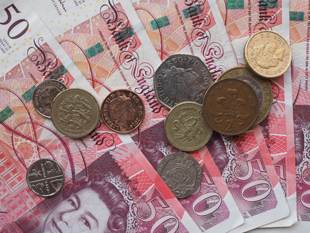 gbp: LONDON, UK - CIRCA SEPTEMBER 2015: British sterling pound GBP banknotes, currency of the United Kingdom
