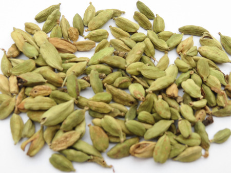a bunch of green cardamon seeds Stock Photo