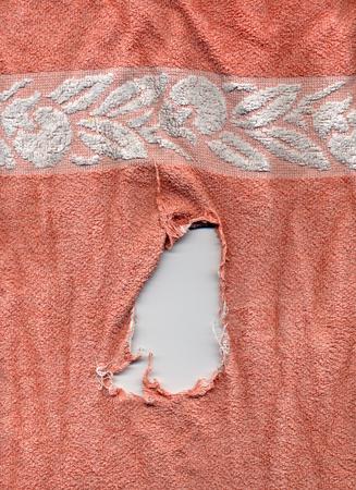 torn: torn towel