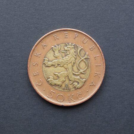 legal tender: Czech korunas CZK (legal tender of the Czech Republic) coins