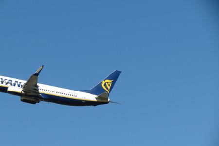 during: ORIO AL SERIO, BERGAMO, ITALY - CIRCA SEPTEMBER 2015: Ryanair aircraft Boeing 737-80 during take-off Editorial