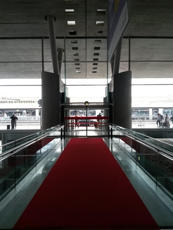 PARIS, FRANCE - CIRCA MAY 2015: Charles De Gaulle airport