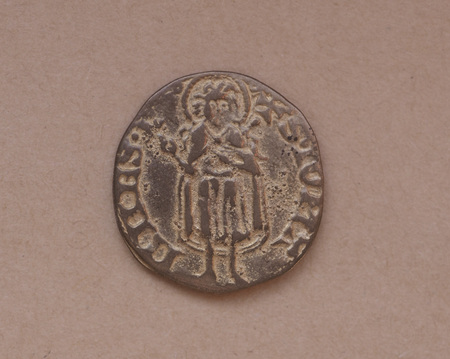 florin: Gold Florin (Fiorino doro) coin issued circa 1256 in Florence, Italy - readingS. Iohannes on the rear side
